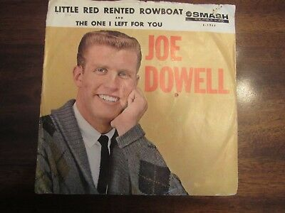 Joe Dowell Little Red Row Boat picture sleeve Smash S-1759 45 rpm