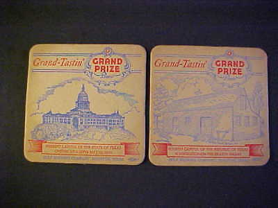 2 Grand Prize Beer Coasters Gulf Brewing Company, Houston, Texas StateCapitals