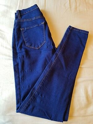Vibrant MIU Size 7 Classic High Waist Denim Skinny Jeans Juniors Womens