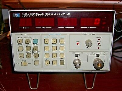 HP / Agilent 5343A Microwave Frequency Counter 001 **TESTED** Hewlett Packard