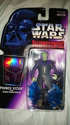 1996 Star Wars Shadow of the Empire Prince Xizor with Energy Blade Shields holo