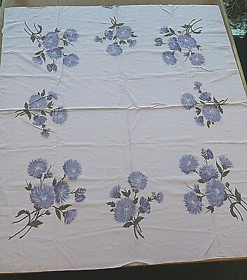 "1950's RETRO Vintage Style MID CENTURY MODERN Tablecloth Lavender 48"" x 52"""