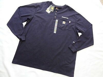 New! Carhartt Flame Resistant FR Force Cotton Long Sleeve 2112 NWT navy blue