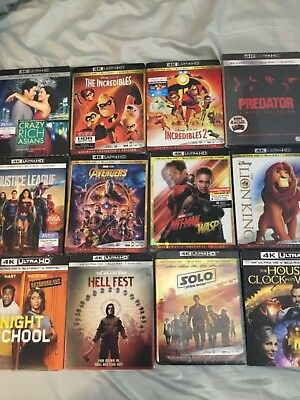 Lot of 15 Brand New Sealed marvel /new release 4k, Free Shipping