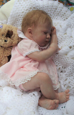 "Australia, Hand Painted, Reborn Baby Doll  "" Logan Asleep """