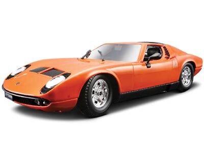 1968 Lamborghini Miura Orange Bburago 12072 1/18 Scale Diecast Model Toy Car
