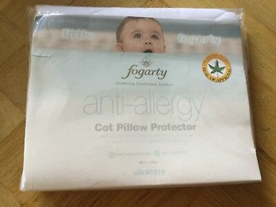 Little Fogarty Anti-Allergy Cot Quilted Baby Pillow Protector 40 x 60cm-NEW