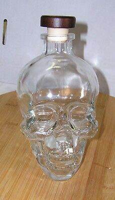 Empty Crystal Head Vodka Skull 750 Ml Clear Glass Bottle With Cap