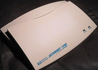 External HP JetDirect 170X (J3258B) Ethernet Print Server