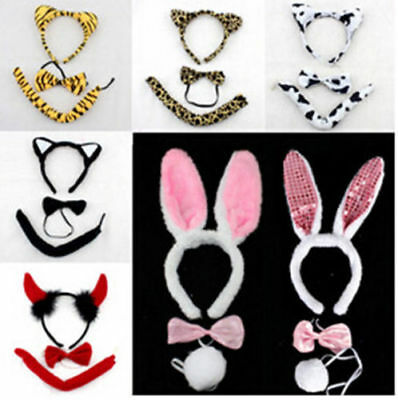 50 joblot Bunny Rabbit Devil Minnie Mouse Cow Ears Tail and Bow Tie Fancy Dress