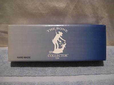 "7"" Bone Collector Bowie Fixed Blade Gut Hook Skinning Knife, New in Box w Sheath"