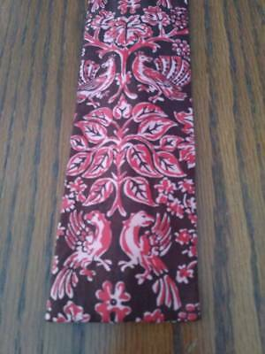 Rooster tie with Stylized Roosters. Sibley's Men's Shop. 100% Cotton