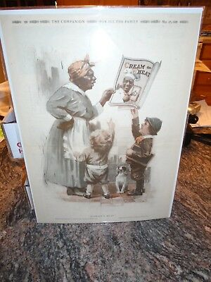 """1920 Cream Of Wheat Ad """" Mammy,s Beau"""" By Edward Brewer Great Ad"""