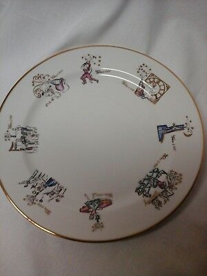 Designed By Rosanna Century Plate 1900 - 2000 Made in Italy Gold Accents