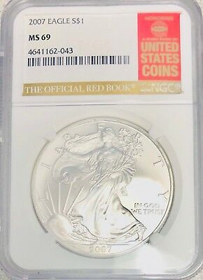 2007 american silver eagle NGC ms69