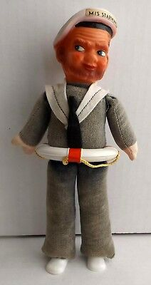 "Vintage M/S Starward Cruise Ship Souvenir Doll 9"" Tall, Germany"