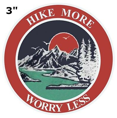 Hike More Worry Less Park Patch Souvenir Travel Embroidered Iron / Sew-on