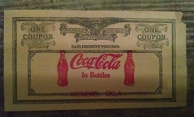 Coca-Cola Coupon from 1927