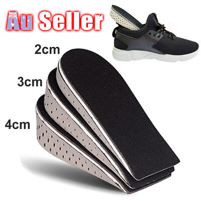 Arch Tall Insert Increase Half Height Insoles Heel Support Shoe Cotton Pa Memory