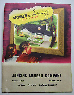 """1950 """"Homes of Individuality"""" Catalog from Clyde, N.Y. Lumber Dealer"""