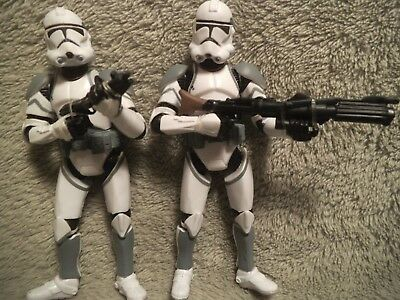 Lot of Two Vintage Star Wars 41st Elite Corps Clone Attack on Coruscant Trooper