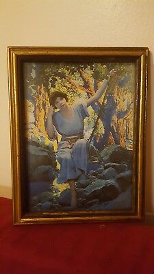 Maxfield Parrish DREAMLIGHT framed  picture antique frame