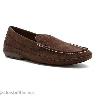 Timberland Men's Heritage Lite Venetian US 12 M Brown Leather Loafers Shoes $115