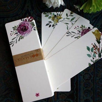 40 Pcs DIY Flower Paper Bookmarks Creative Stationery Word Card Luxury