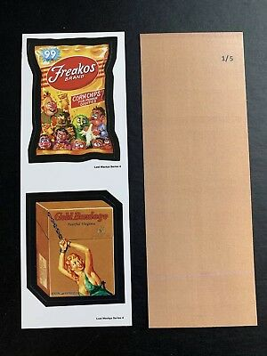 Lost Wacky Packages Series 4 Double RARE RARE TAN BACK #1/5