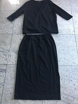 Expressiva black 2 Piece Nursing Outfit Skirt/dress Dressy Skirt Large