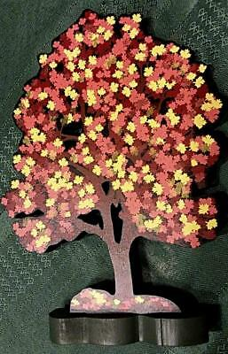 Shelia's Collectibles 1996 Village Town Fall Autumn Maple Tree and Stand