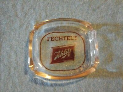 Vintage schlitz beer glass ashtray to fechtel's bar south st.louis