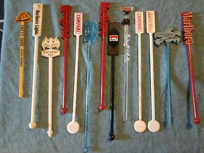 Vintage swizzle  sticks  tobacco and alcohol  advertisements lot