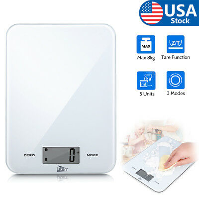 Kitchen Scale Electronic Food Weighing Scale Digital Measuring Gram 17.6lb/8kg