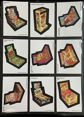Very Rare LOST WACKY PACKAGES BOX BONUS STICKERS Complete Series 1 - 8