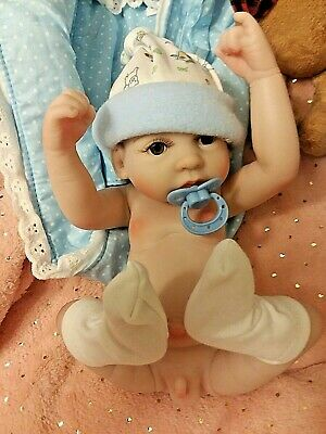 Precious Preemie  Boy  Anatomical With Carry Beds  Bottles And Toy