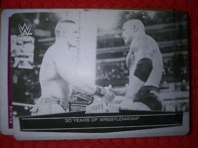 2014 Topps Best of WWE The Rock John Cena Black Printing Plate 1/1