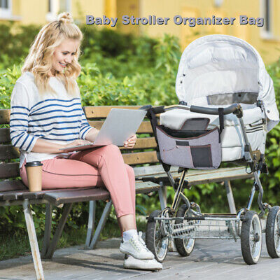 Baby Organizer Stroller Bag With Cup Holders Bottle Phone Diaper Holder PS353
