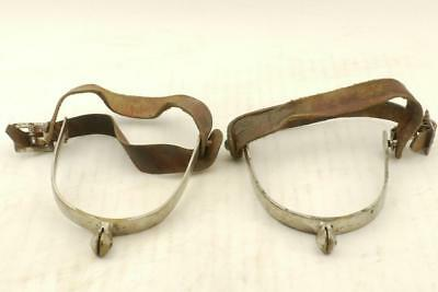 WW2 Vintage Japanese Army Officer's a Pair of Steel Spurs #b7481