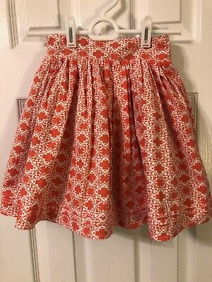Ava Loves Olli Girl's Reversible Skirt, Coral Print and Teal Print, Size 5