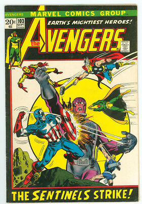 Avengers #103 Sentinels Marvel Comics 1972 FN+ Combined Shipping Available