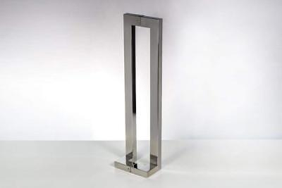 Modern Contemporary 48 inches Square Rectangle Flat L-Shape Bar Stainless-Steel
