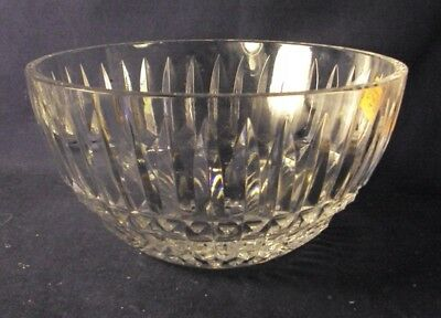 "Waterford Crystal Glenmore bowl pattern 8"" diameter cut glass"