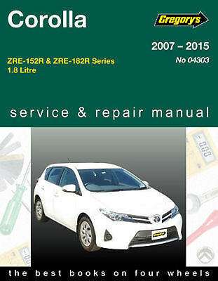 Toyota Corolla ZE152 & 182R 2007-2015 Workshop Repair Manual with MPN GAP04303