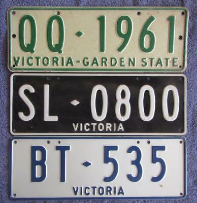 3 X Vic Pers License/number Plates