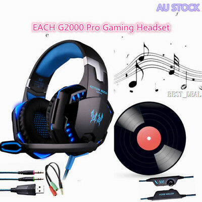 EACH G2000 Pro Game Gaming Headset 3.5mm PC Headphone Microphone For XBOX PS4