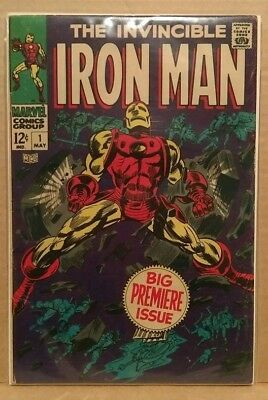 Marvel - IRON MAN #1 FIRST ISSUE - Co-Created by STAN LEE - High Grade Gem FN+