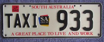 3 Digit Sa Taxi License/number Plate # 933