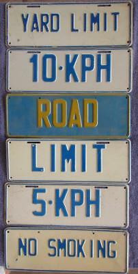 SIGNAGE x 6 LICENSE/NUMBER PLATES