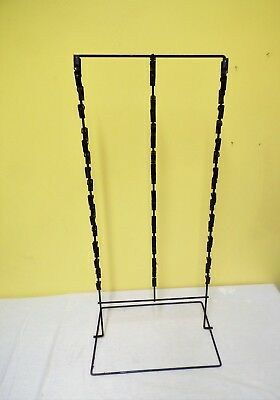 Vtg Antique Store Metal Counter Display Rack 55 Clip Double Sided Hanging Snacks
